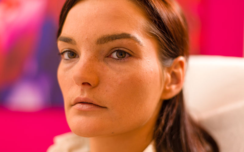 Voor permanent make-up eyeliner behandeling