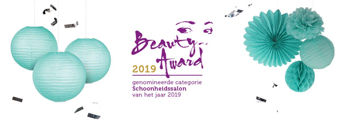 Genomineerd Beauty Awards Schoonheidssalon 2019