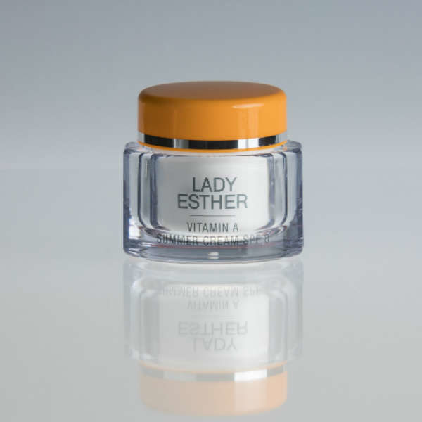 Lady Esther Vitamin A summer cream SPF8, 2 in 1 product www.menandwomenscare.nl